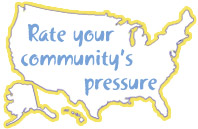 Rate your community's pressure